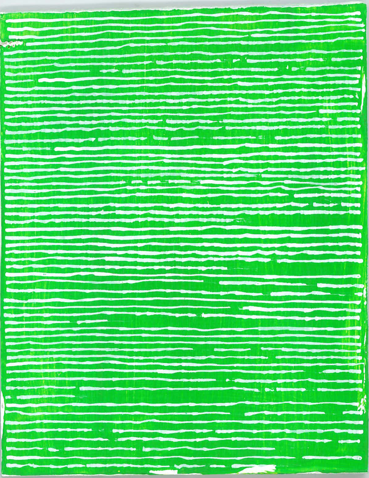 radical warp 12 green drawing by stella untalan