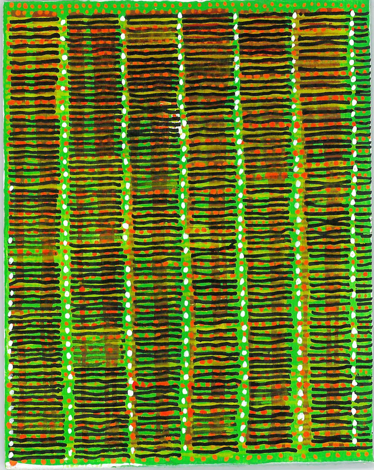 radical warp 14 green drawing by stella untalan