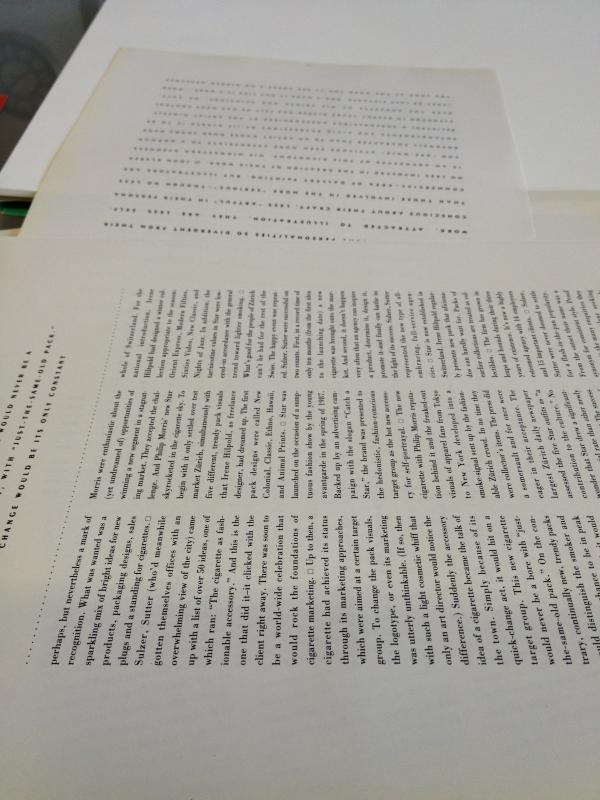 sheets of text