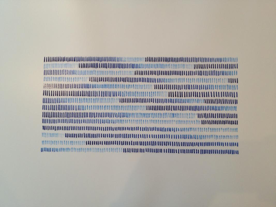 indigo ink on Yupo synthetic paper, rhythms