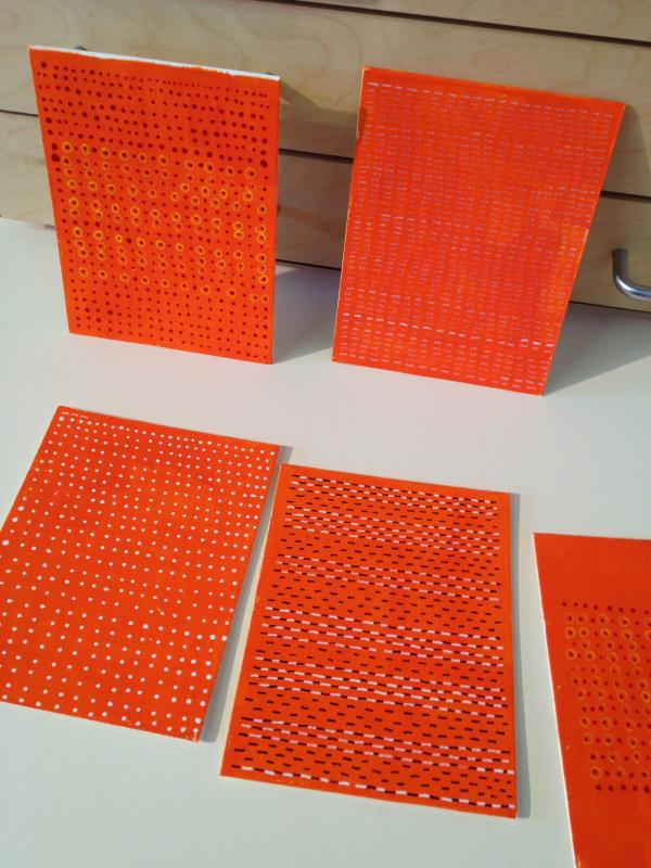 orange is the current color drawings by Stella Untalan, Art, Philadelphia