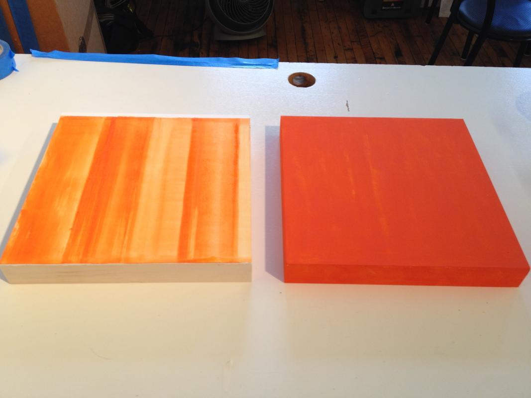 orange panels in progress