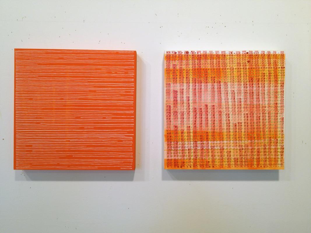square orange twins by Stella Untalan