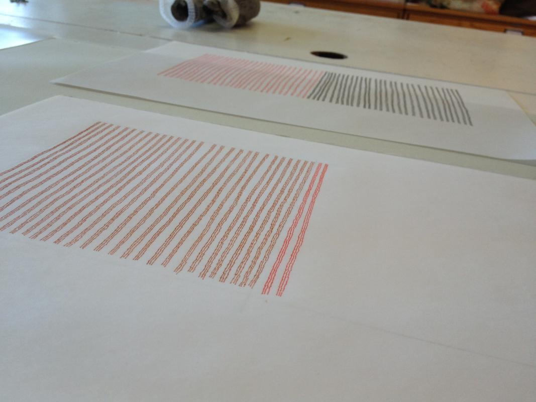 3 lines drawing on my work table