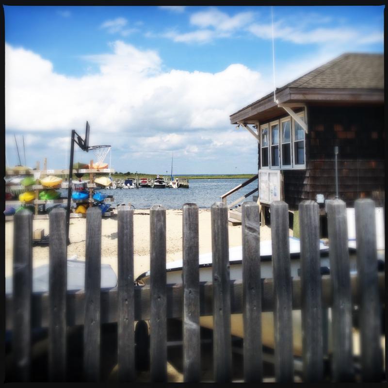 On the island, bayside.
