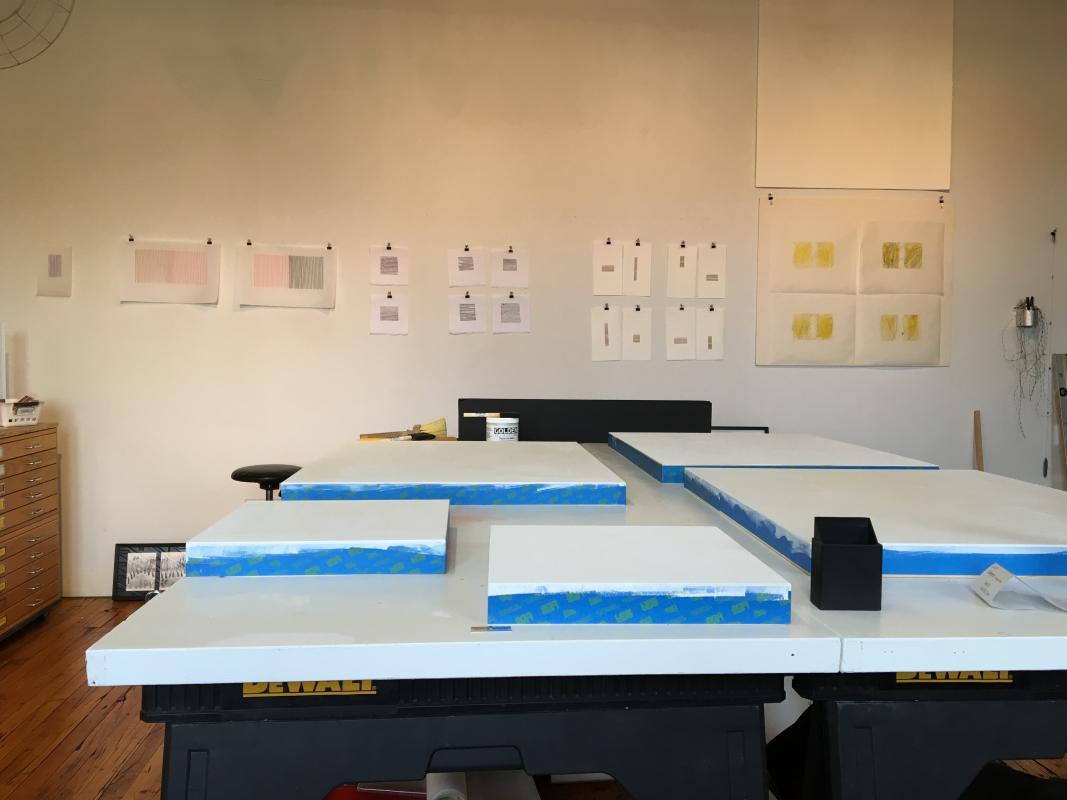 panels prepped in my studio