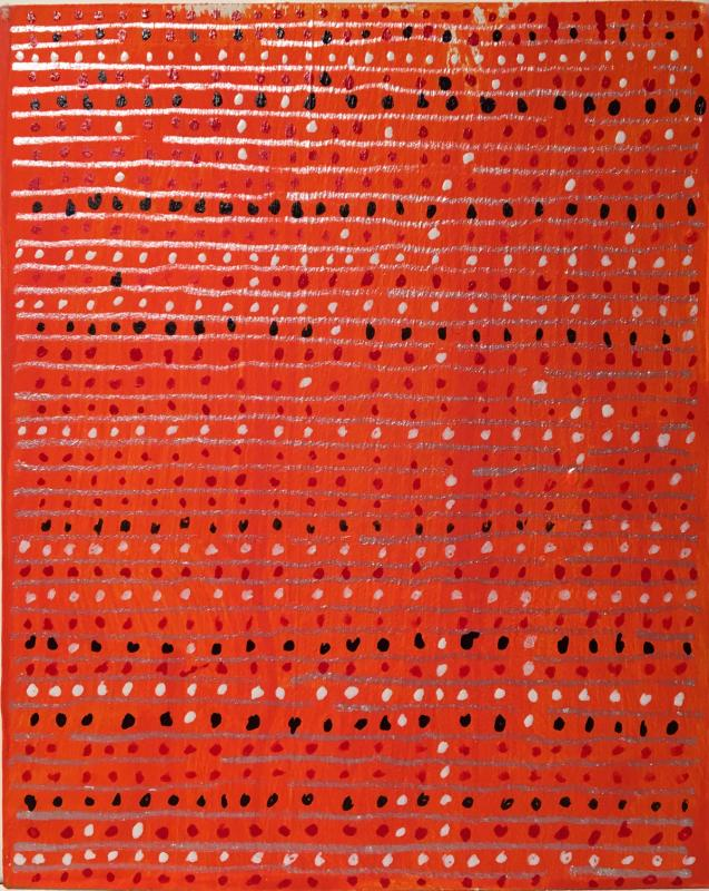 Radical Warp Series 1-7 new orange drawings on basswood by Stella Untalan