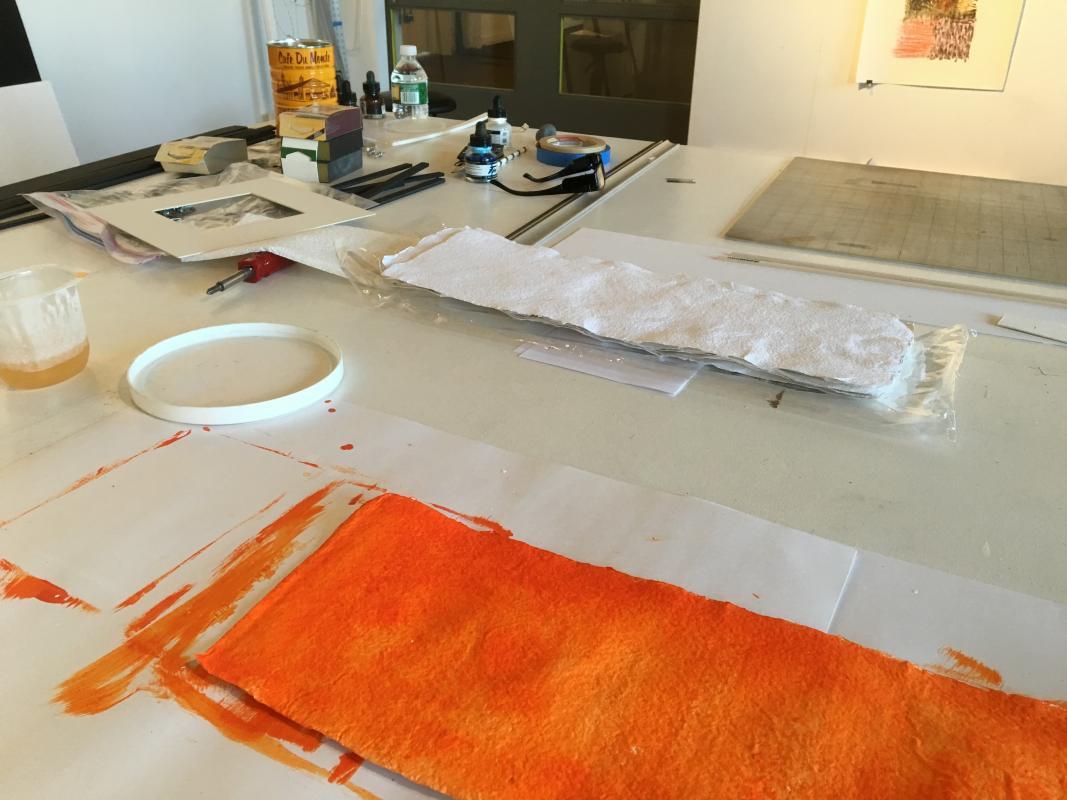 New drawings, orange by Stella Untalan.