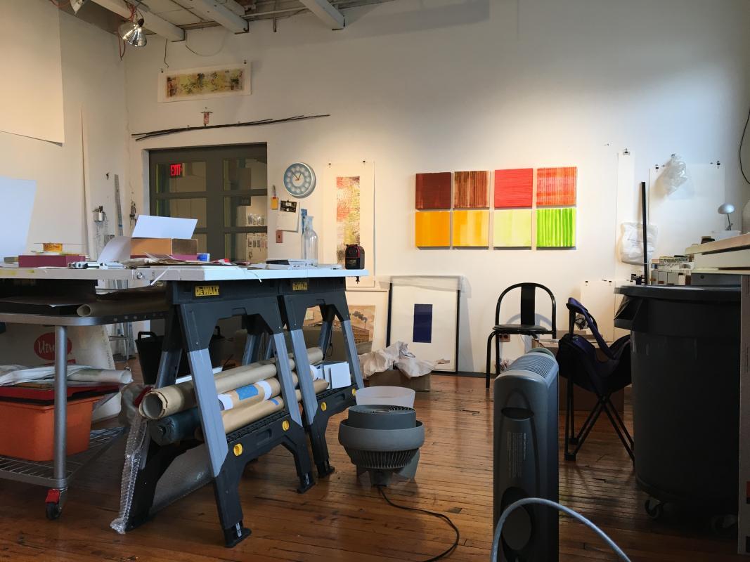 A view of Stella Untalan's studio January 3016