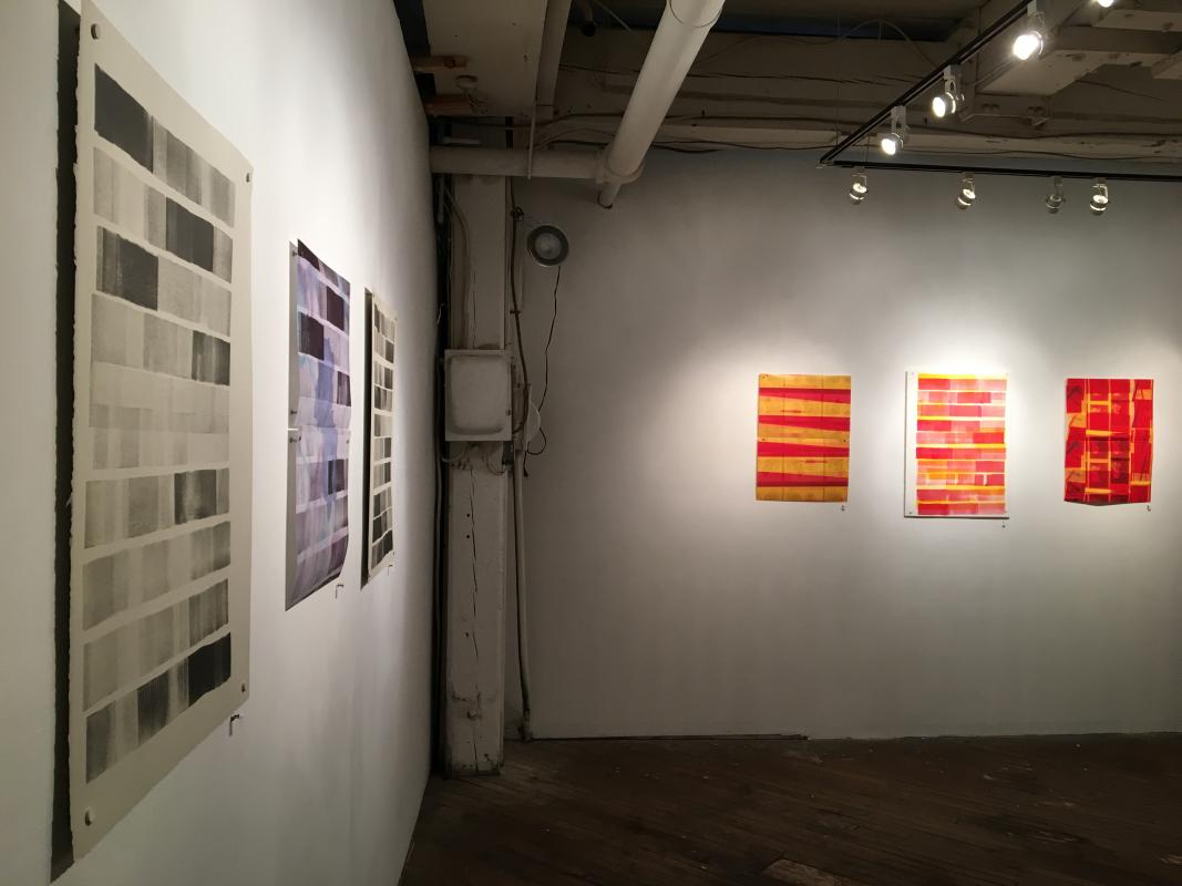 Installation of drawings and photographs at ARTSPACE1241 by Stella Untalan and Robert McNellis