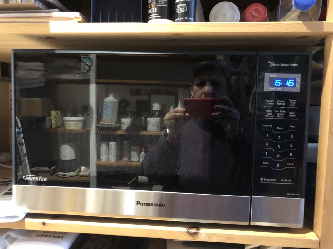 Reflected in the microwave
