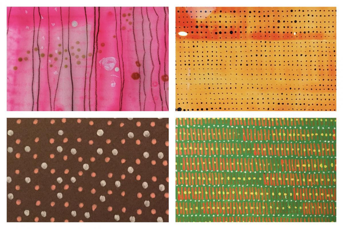 sampler of four drawings Stella Untalan artist