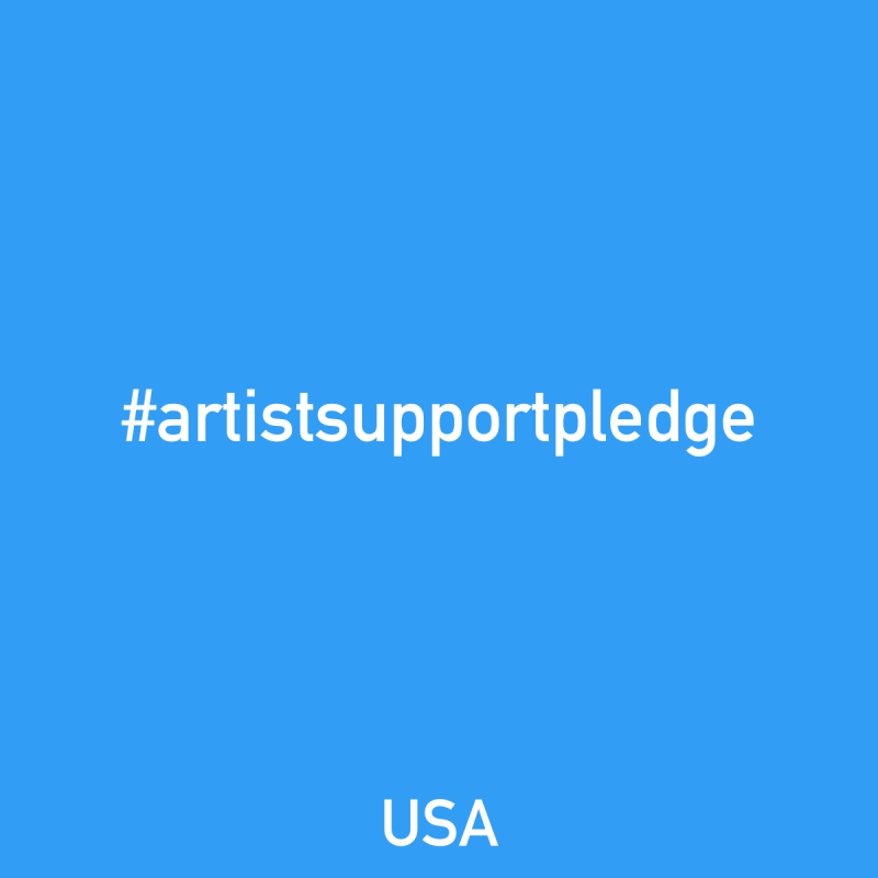 I'm participating in #artistsupportpledge