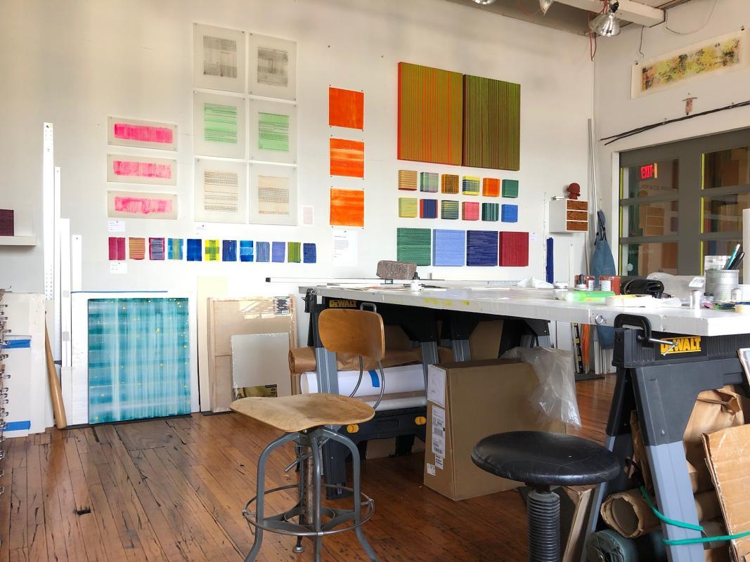 Stella Untalan studio in south philadelphia