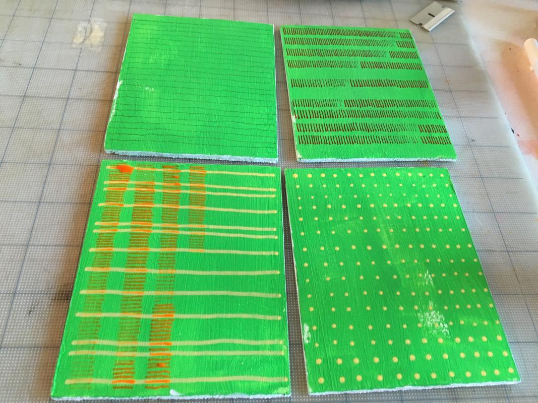new green warp drawings