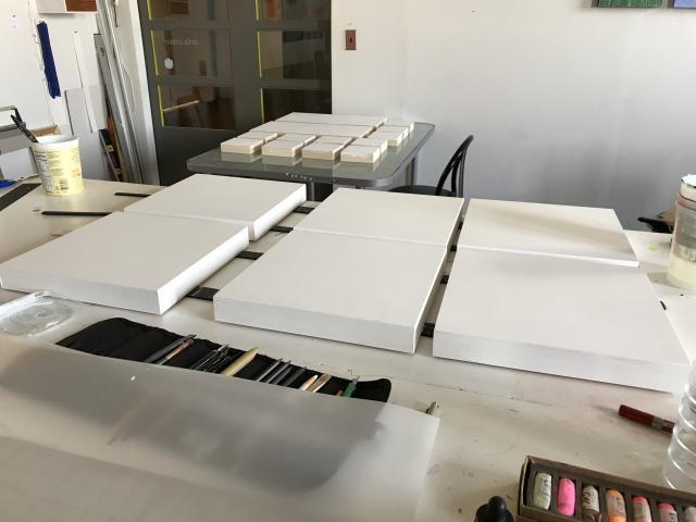 Panels in the studio
