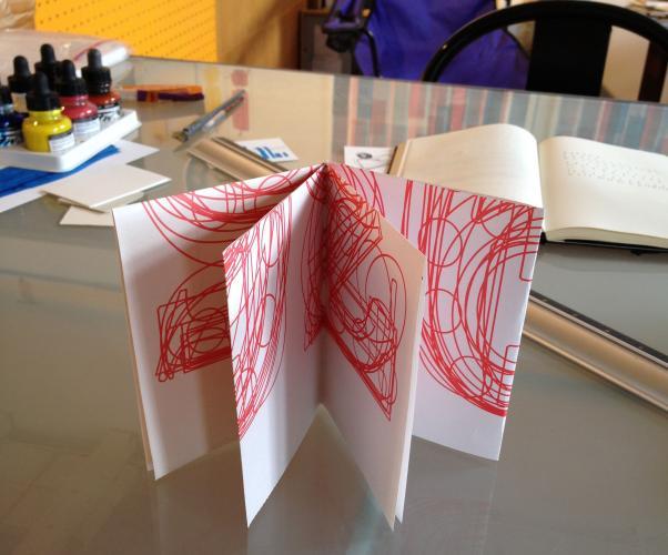 folding a single sheet book