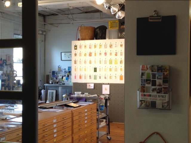Looking in my studio door