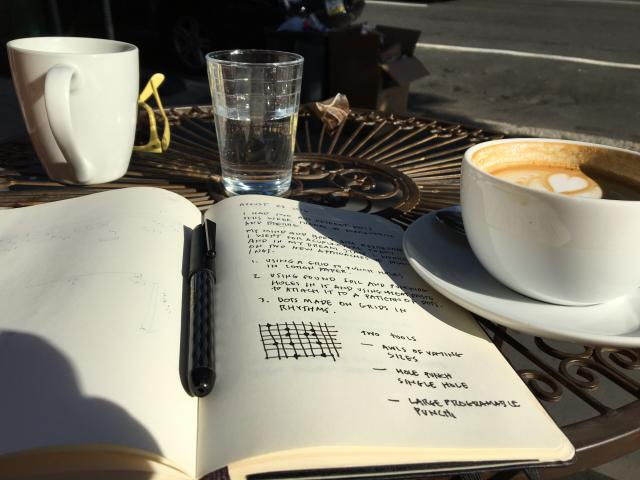 cafe and art planning