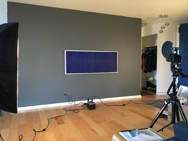 My soundings, wave 1 in Elena Bouvier's studio being photographed.