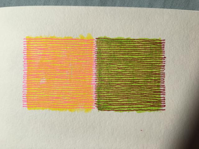 sketchbook experiments by Stella Untalan. Color backgrounds with lines