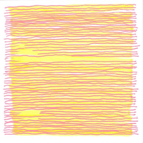 20194x4-041 Interrupted Line a small drawing on paper by Stella Untalan