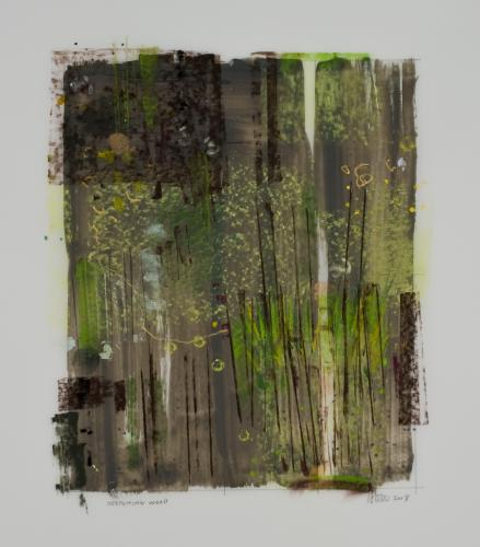 Deepening Woods mixed media by Stella Untalan