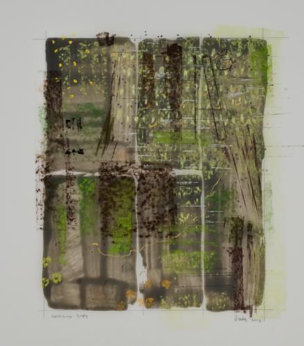 Deepening Woods Respiring Pines mixed media by Stella Untalan