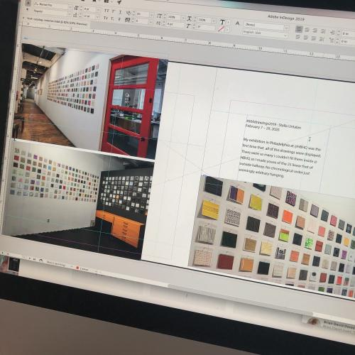 Working in InDesign on 600 drawings Catalog.